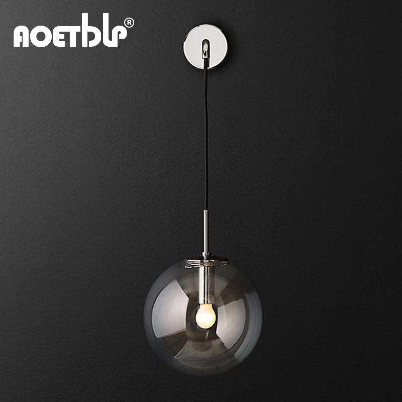 北欧工业风简约样板房卧室床头灯具 loft 后现代丹麦原创设计师壁灯