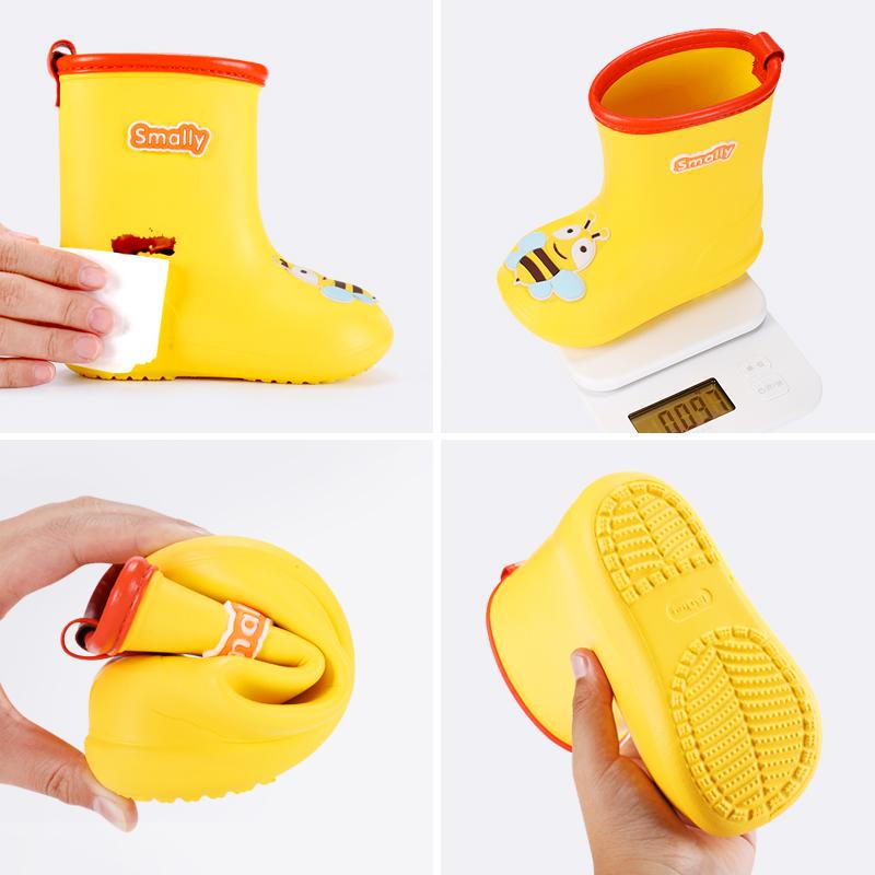 儿童雨鞋雨衣小黄鸭防滑雨靴男女童学生水鞋小童幼儿防水宝宝雨鞋