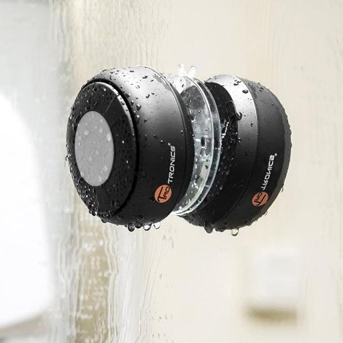 美國TaoTronics®防水6小時續航藍芽吸盤式浴室音響 音箱電話擴音