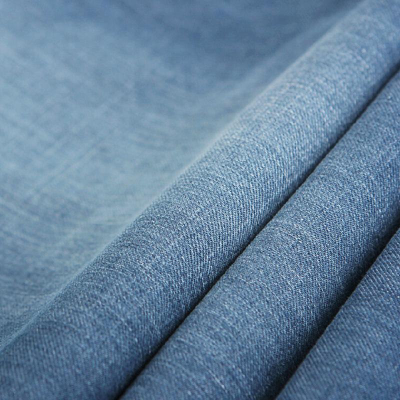 大牛传说男士浅色牛仔裤春夏季超薄款宽松直筒弹力牛子裤大码长裤