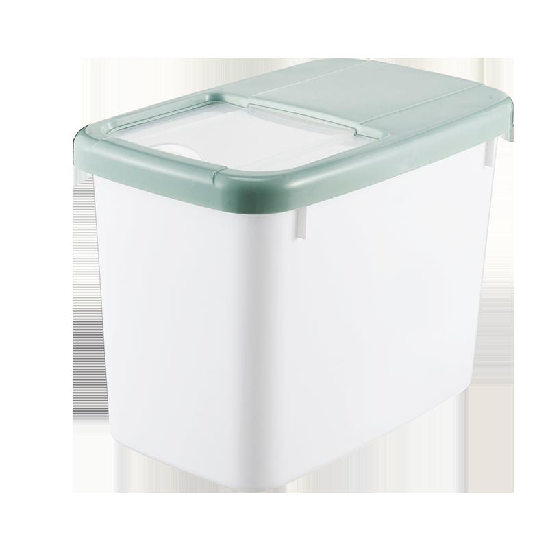 家用米桶储米桶米箱15斤塑料防虫面粉桶厨房米缸米罐家用储物米桶