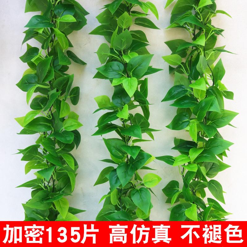 仿真藤条绿萝叶装饰假树叶绿藤藤蔓塑料暖气水管道遮挡空调缠绕花