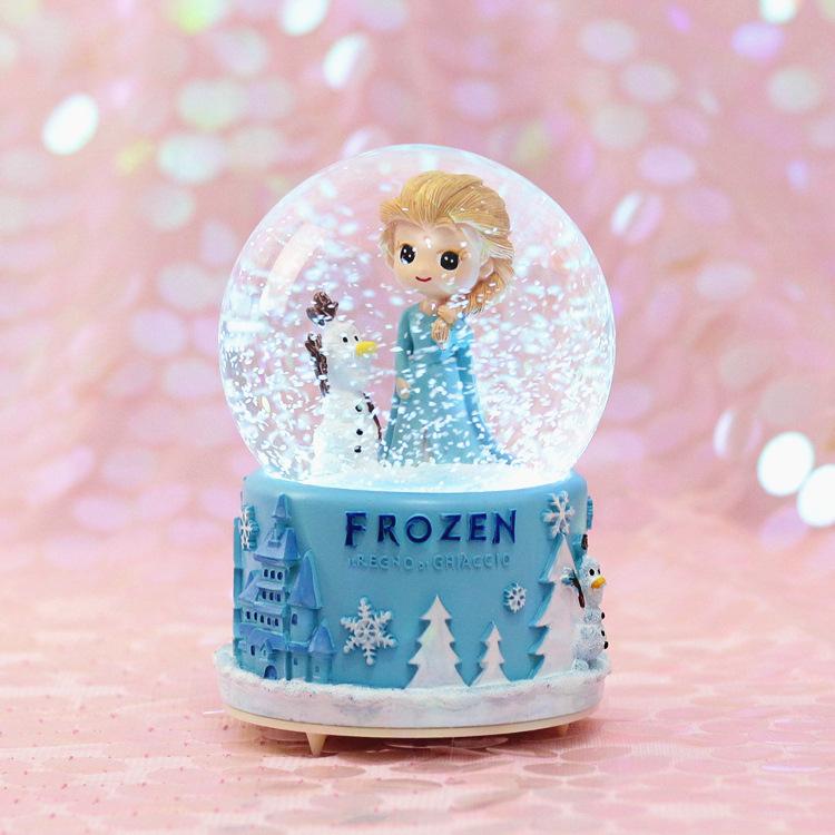 梦幻浪漫樱花飘雪水晶球音乐八音盒儿童女孩女生日情侣情人节礼物