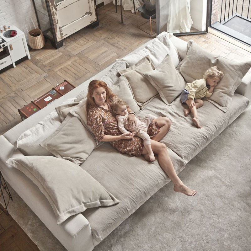家具乳胶网红三人沙发