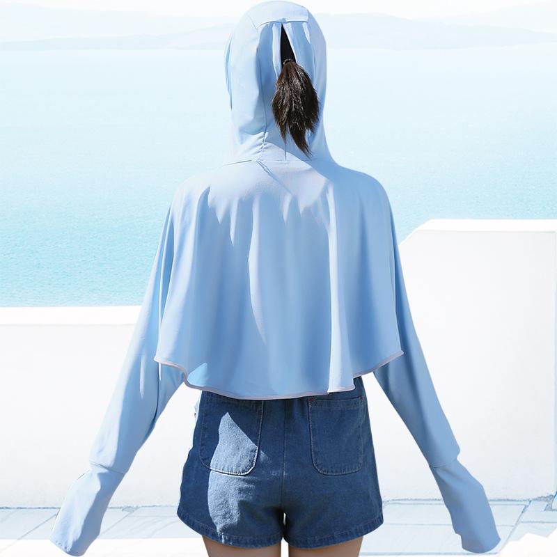 防晒衣女夏天户外冰丝防晒服防紫外线透气薄款长袖骑车防晒衫外套