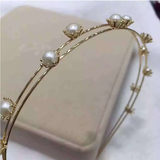 Natural freshwater pearl female pearl hair hoops fashion set-up hair accessories