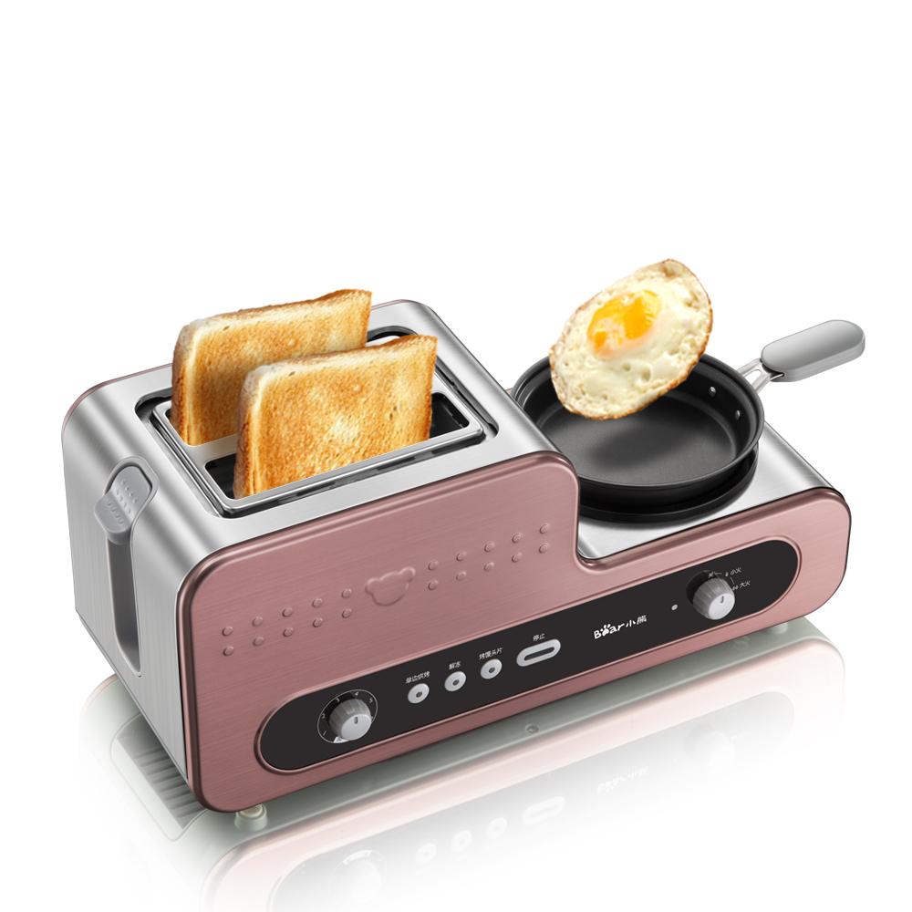 烤面包机家用2片早餐多士炉Bear/小熊 DSL-A02Y2土司机全自动吐司