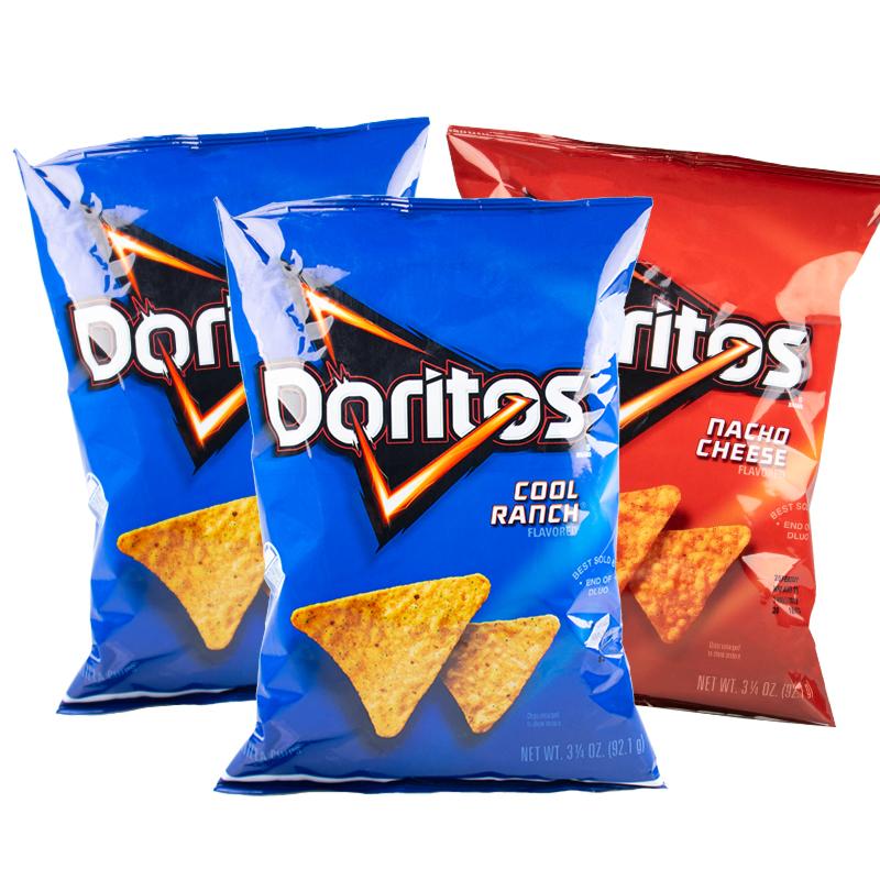 美国进口 Doritos 奶酪味玉米片 92.1gx3袋