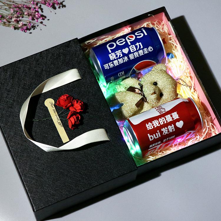 可乐定制易拉罐男朋友可乐罐礼盒装刻字罐装礼盒可口可乐生日礼物