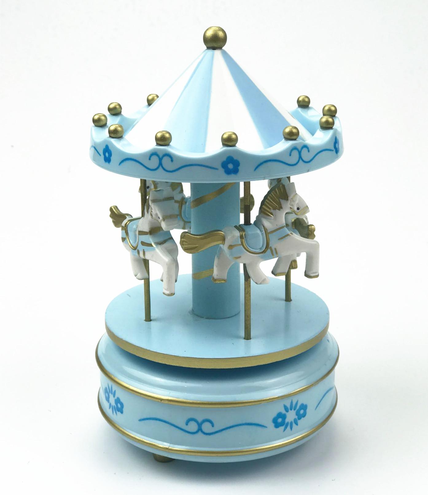 旋转木马蛋糕装饰摆件 生日蛋糕旋转木马装饰 蛋糕装饰配件八音盒
