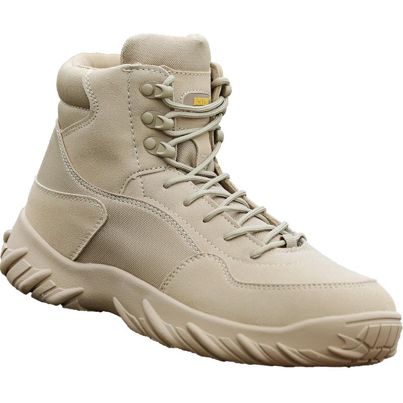 户外高低帮沙漠靴特种兵作战靴男春秋季透气战术鞋防刮耐磨飞行靴高清大图