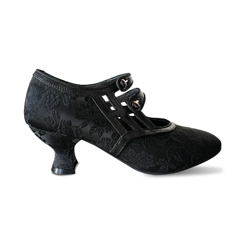 徐行记原创民国旗袍汉服搭配女鞋复古酒杯跟春高跟鞋 逃离舞会