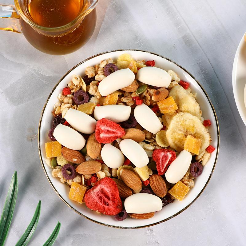 润涵优品乳酪泡芙燕麦片早餐即食代餐酸奶果粒奇亚籽水果坚果谷物