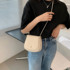 This year's popular high-end small bag female 2021 new trendy net red all-match shoulder bag summer cross-body saddle bag