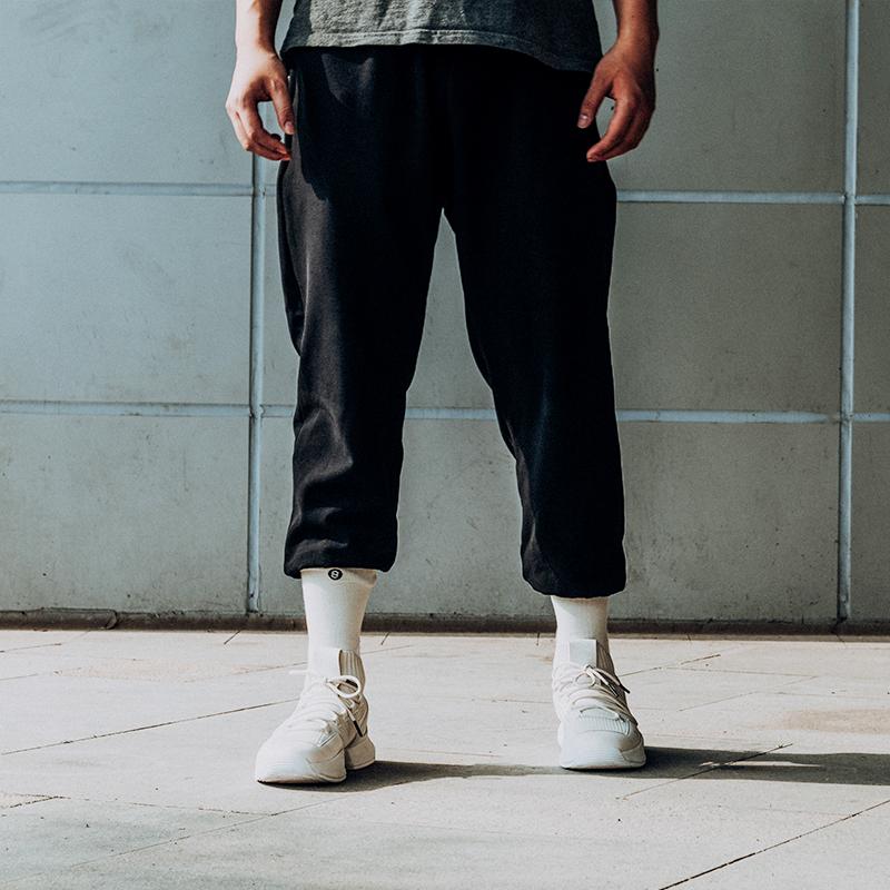 运动长裤男宽松收口束脚裤休闲百搭九分裤黑色篮球裤潮夏季 UZIS