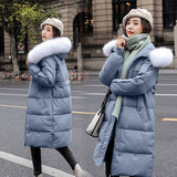 Off-season cotton women's mid-length thick down jacket winter 2019 new slimming large size loose cotton jacket