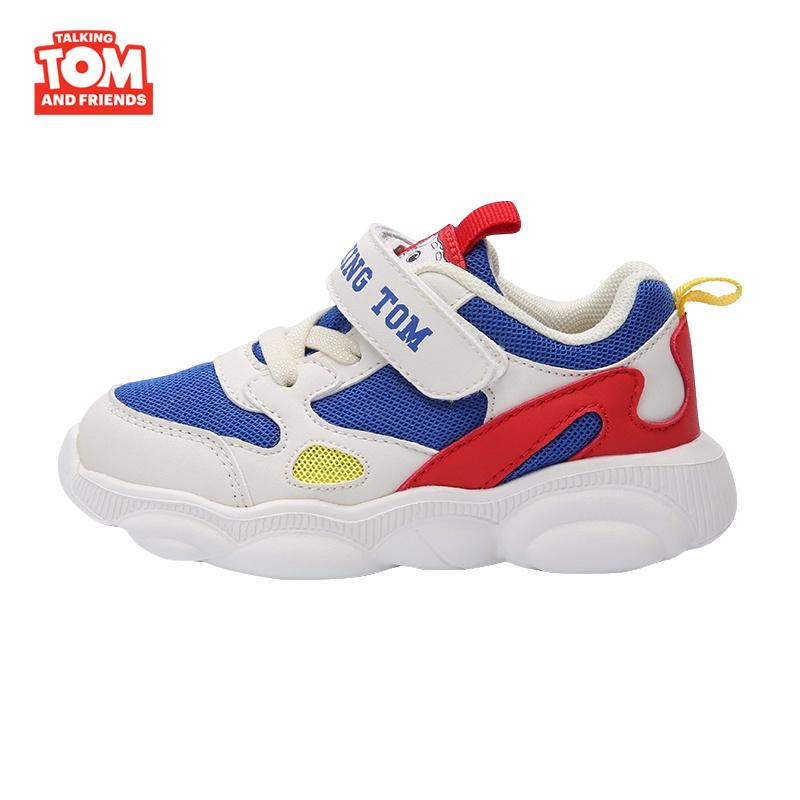 汤姆猫童鞋女童运动鞋2019秋季新款时尚跑步鞋男儿童休闲鞋子潮流