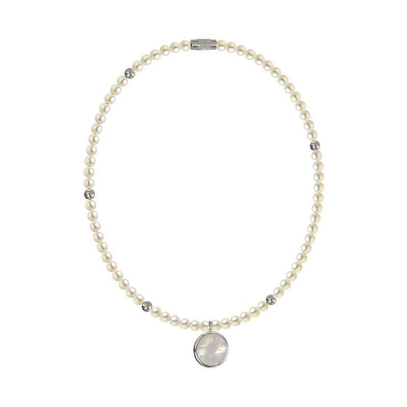 新款潮网红颈链高级感吊坠饰品 2020 珍珠贝母项链女小众设计感 KVK