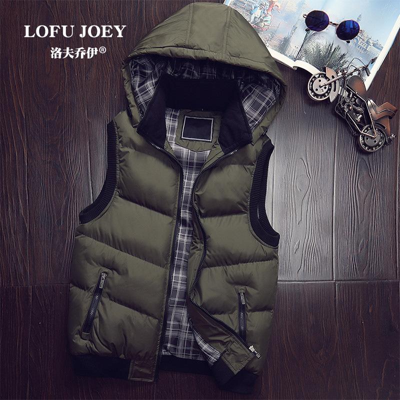 棉马甲男士秋冬季外套羽绒棉衣服韩版潮流帅气个性修身可脱卸连帽