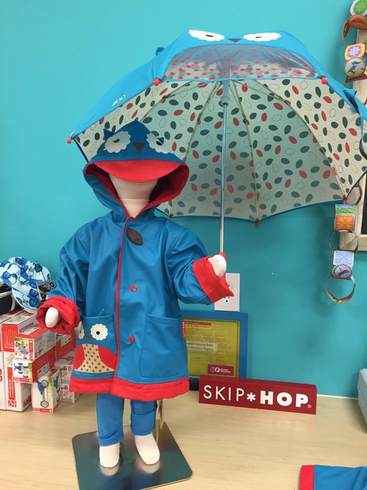 美国skip hop正品现货猫头鹰儿童雨衣+儿童雨伞+儿童雨鞋