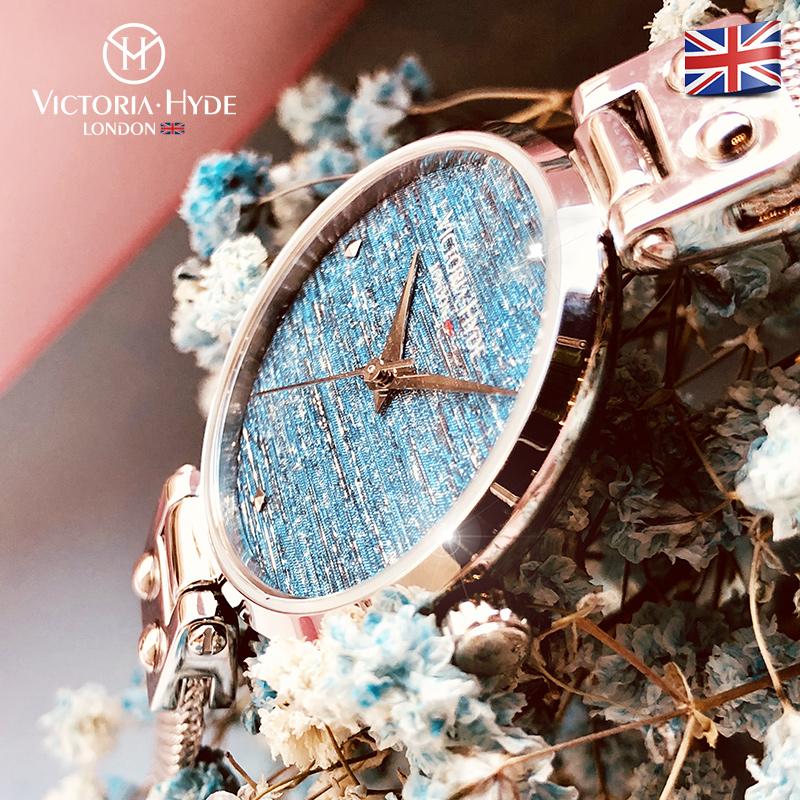 时尚潮流火花系列钢带款防水石英腕表欧美小众款 手表女 VH.London