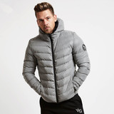 Fitness cotton clothing men's autumn and winter hooded zipper warm jacket Slim training suit basketball running warm sports shirt