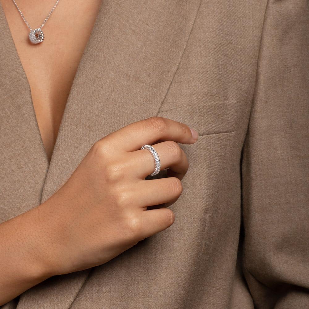 气质方形戒指女  潮食指戒情侣戒指环银礼物 ins APM Monaco