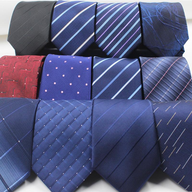 拉链式领带男正装商务衬衫职业韩版易拉得学生结婚蓝黑色懒人男士