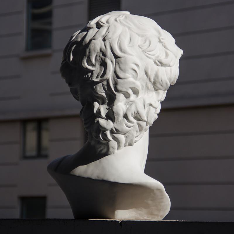 柏伦斯石膏头像树脂石膏像素描头像教具模型美术人头雕塑摆件人物人像静物雕像装饰模具在号大卫画室用品