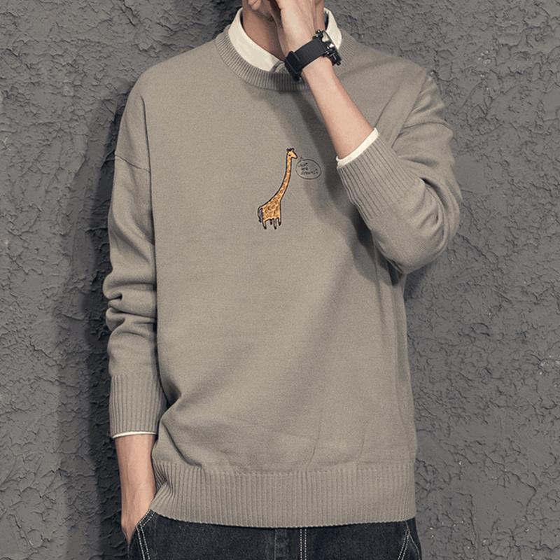 秋冬季新款男衬衫领针织衫韩版打底衫冬季加绒假两件男生毛衣 2018