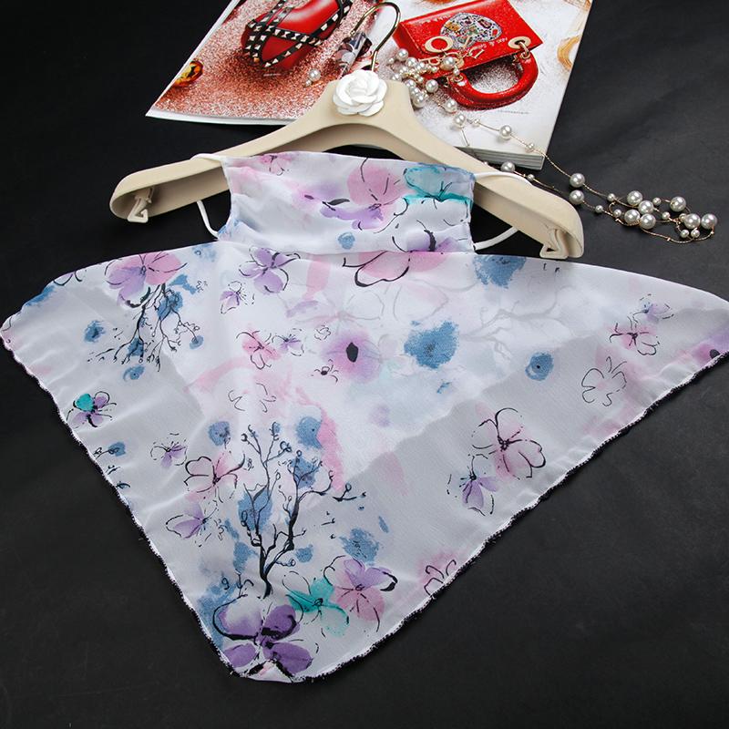 圍巾口罩一體防曬蘇州絲巾小圍脖夏季面紗網紅紗巾女薄款時尚護頸