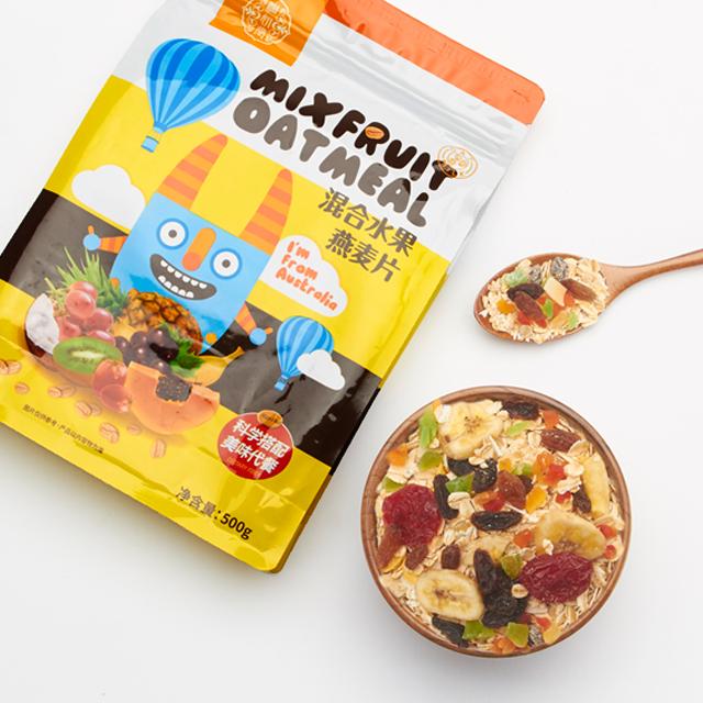 水果燕麦片即食非无糖脱脂早餐冲饮水果坚果混合麦片粥免煮代餐