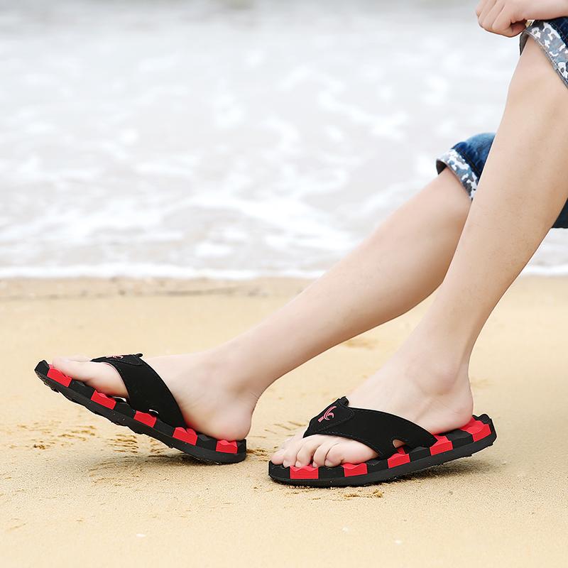 乐睦夏季人字拖男士拖鞋男潮凉拖鞋男生室内室外防滑沙滩鞋男大码