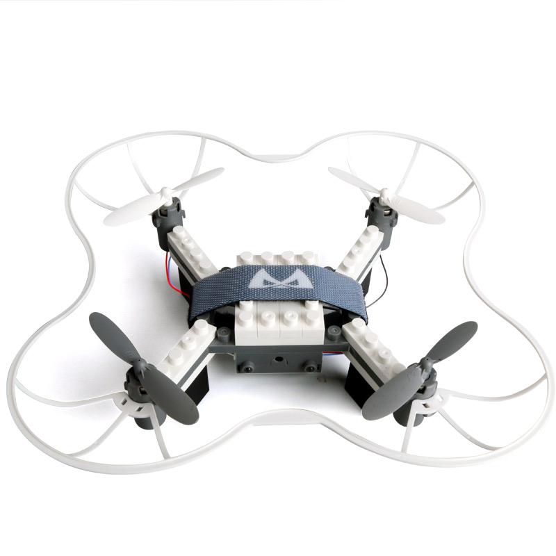 儿童无人机积木mini遥控飞机小型DIY拼装飞行器耐摔兼容乐高玩具