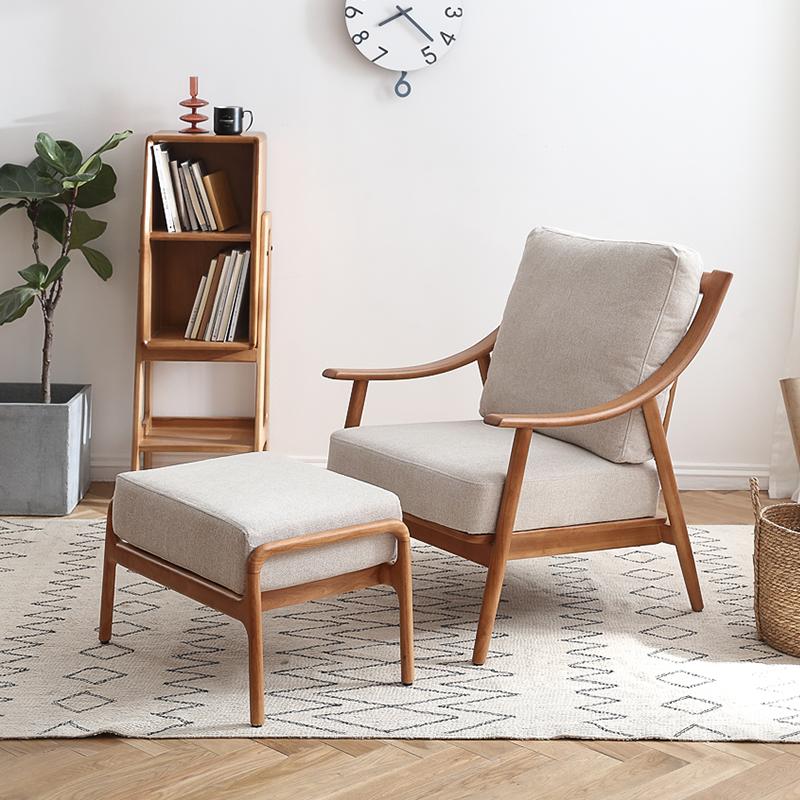 汉哲北欧单人沙发椅,阳台布置个休闲生活区好物