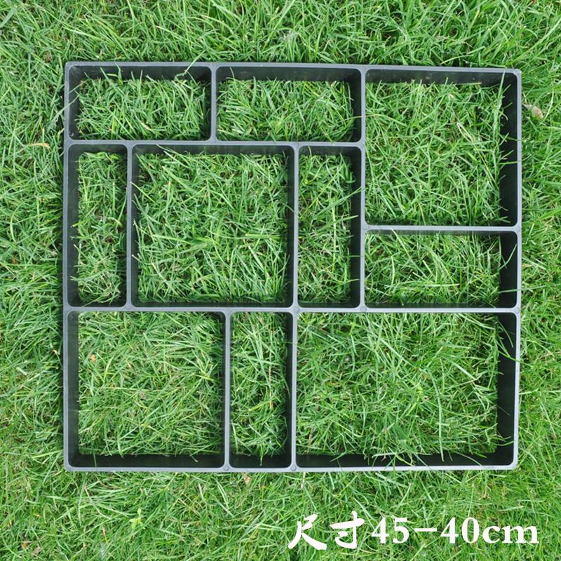 塑料地模艺术园林设计铺路模具路面水泥混凝土基础建材DIY地砖模