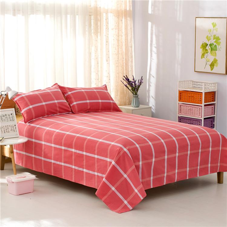 格子老粗布床单双人床单正品床单床单单件单人双人学生1.5 1.8