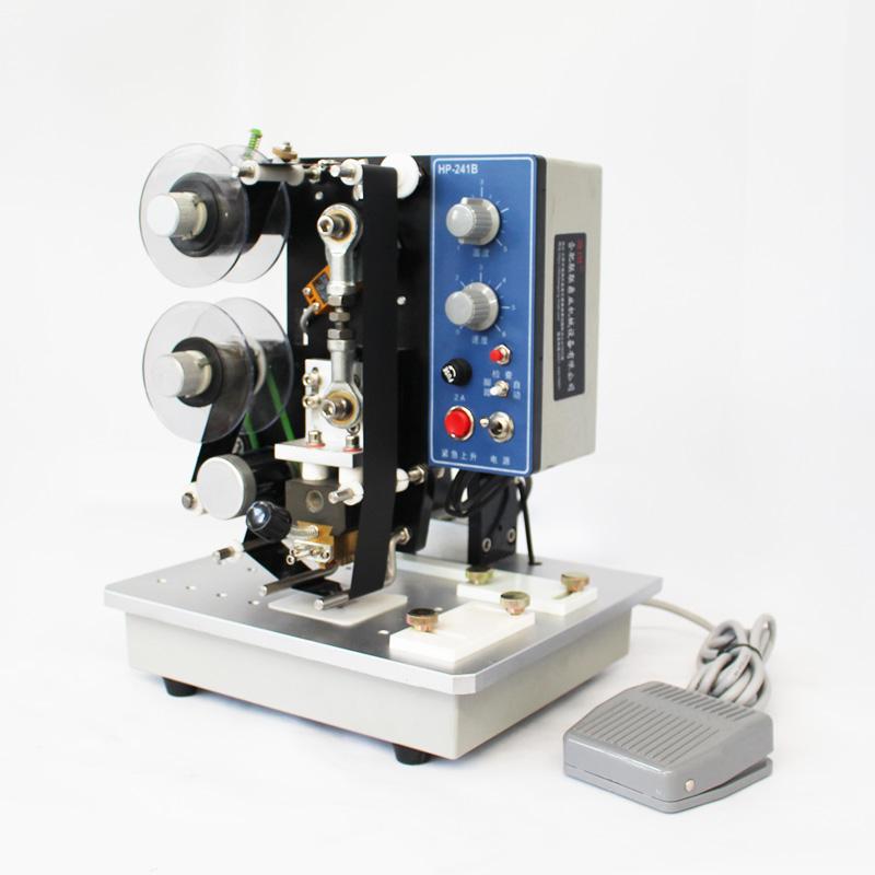 全自动直热式自动打生产日期钢印标签碳带仿喷码铜字印码数字钢印机 电动色带打码机 241B HP 迪图