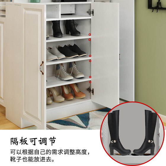 Simple Modern Foyer Cabinet, Corner Shoe Cabinet, Multi-functional Porch Cabinet, Storage Cabinet, European Living Room Partition Cabinet, Clothes Rack