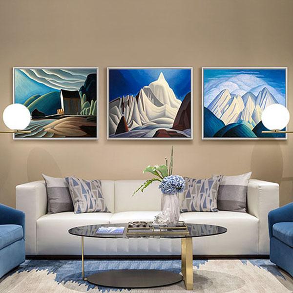 名画【原作版画】现代简约客厅画床头多联画北欧餐厅挂画风景油画