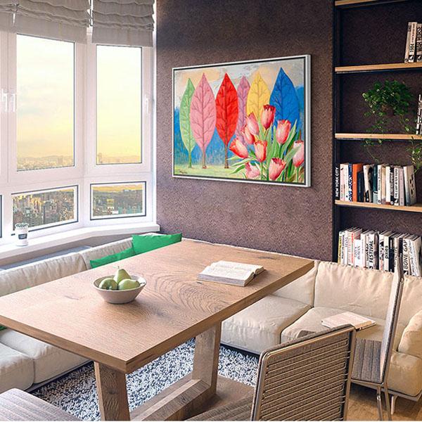 【原作版画】超现实主义油画客厅装饰画卧室挂画简约现代创意无框