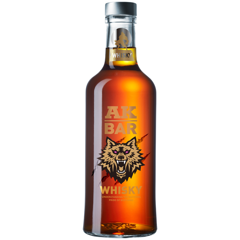 AK47夜店洋酒akbar威士忌whisky高度烈酒40度酒吧鸡尾酒基阿卡47