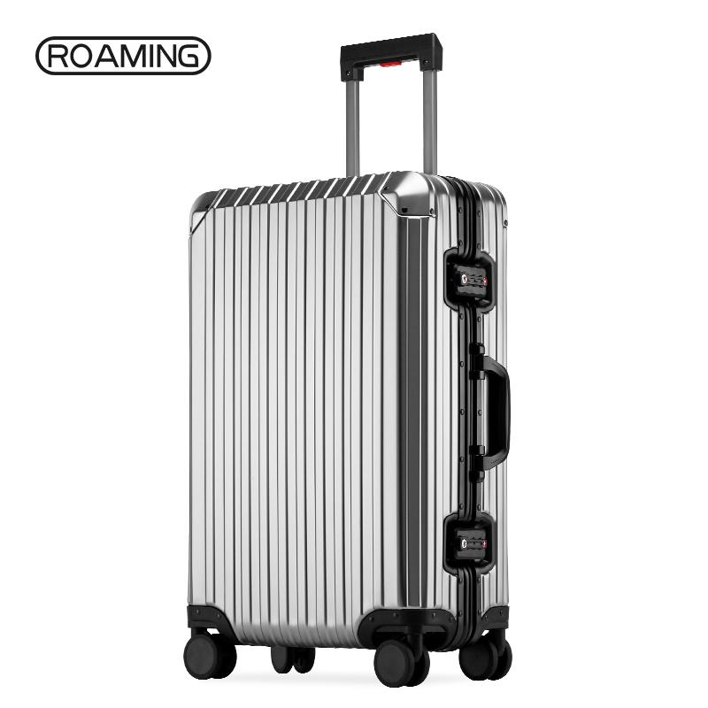 登机箱密码箱 24 寸旅行箱 28 全铝镁合金行李箱女箱子男拉杆箱万向轮