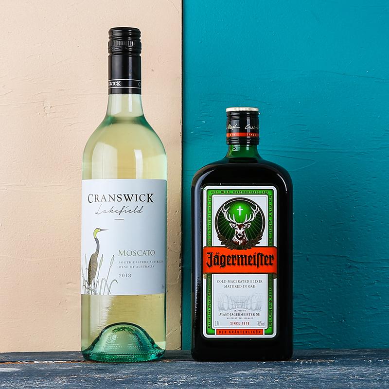 支装 2 澳洲进口仙鹤湖莫斯卡托甜白起泡酒德国野格酒力娇酒 醉鹅娘