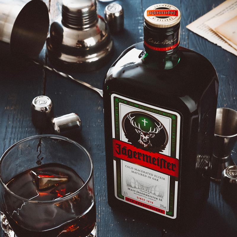 德国进口洋酒野格圣鹿酒利口酒力娇酒正品现货 700ml 醉鹅娘
