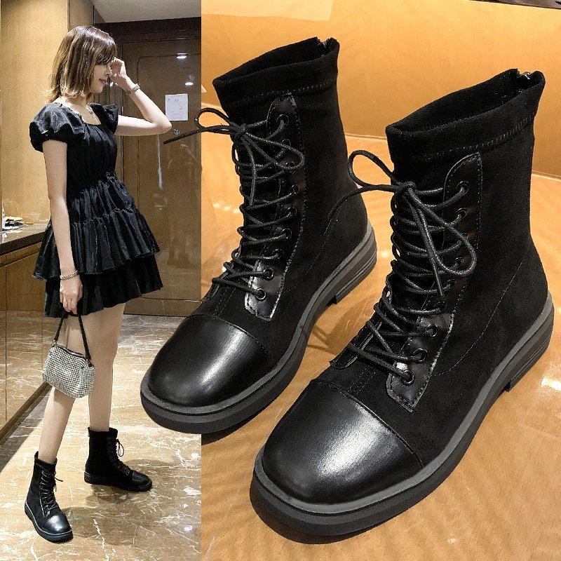 马丁靴女英伦风单靴2020秋季新款韩版百搭机车靴短靴帅气潮ins酷