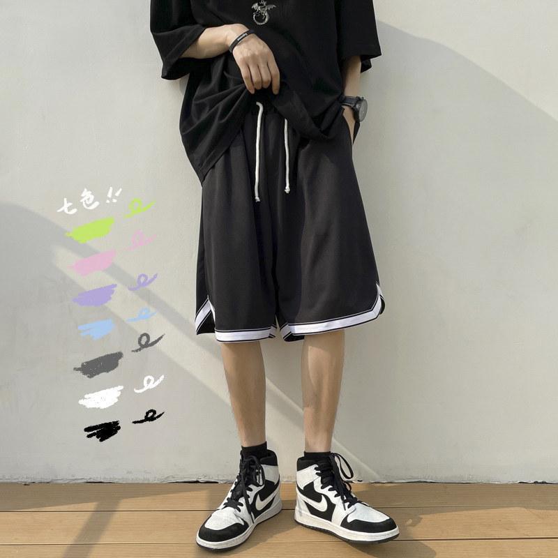篮球运动短裤男夏季薄款外穿休闲潮流宽松潮牌ins爆款速干五分裤