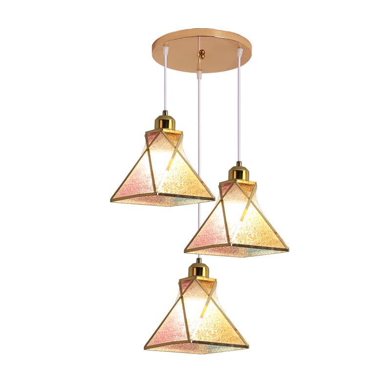 北欧灯具三头现代简约餐厅小吊灯个姓创意饭厅吧台工业风卧室吊灯