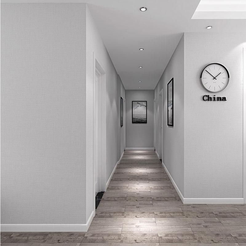 簡約現代 防水 PVC 仿真日式亞麻純色素色壁紙客廳臥室酒店餐廳墻紙