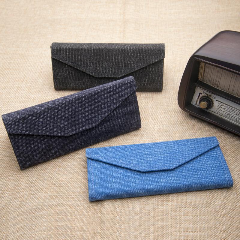 眼镜盒男女生韩国风小清新复古优雅简约便携折叠太阳眼睛墨镜盒子